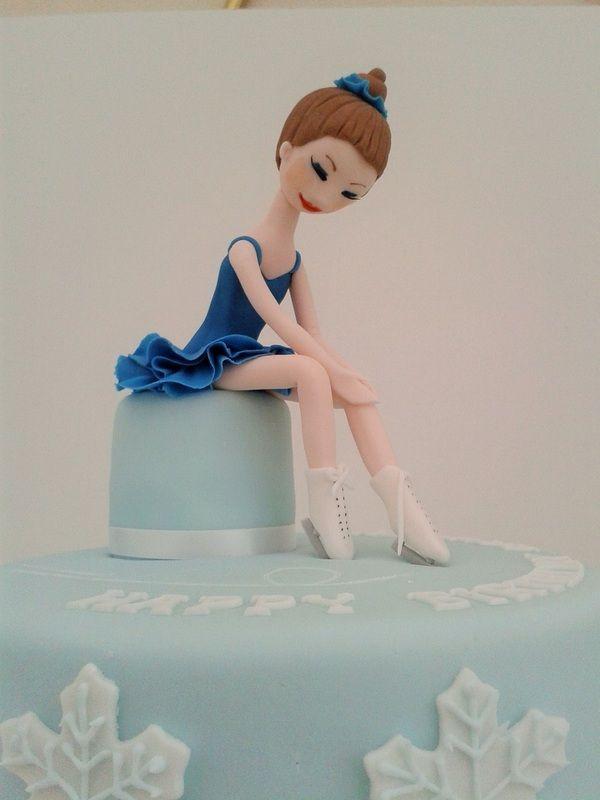 Ice skating cake Based on Carlos Lischetti Ballerina by Lara's Theme Cakes