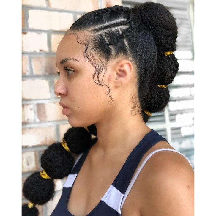 Afro Puff Bubble Ponytails Are Trending On Instagram Bubble Ponytail Natural Hair Styles Black Hair Updo Hairstyles
