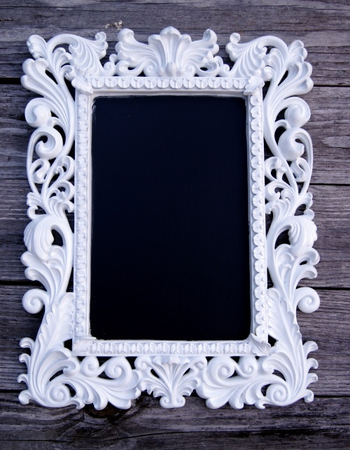framed chalkboard - I need this :)Crafts Misc, Frames Black, Black And White, Offices Spaces, Bulletin Boards, White Chalkboards, Frames Chalkboards Lov, Bold Colors, Chalkboards Frames