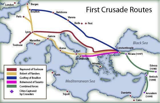 Resultado de imagen para mapa de las cruzadas