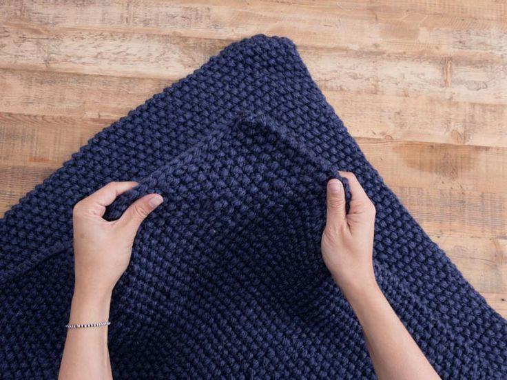 Tutoriel DIY: Tricoter une couverture de bébé au point de riz via DaWanda.com