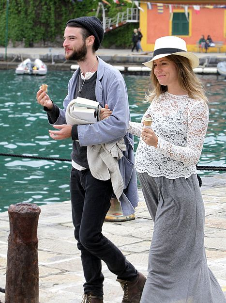 Sienna Miller with boyfriend Tom Sturridge in Portofino, Italy on May 6,2012