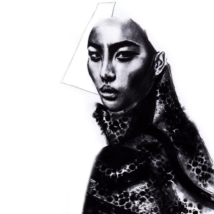 Fashion Illustration by Alexandra Clarke  Coat designed by Alexandra Clarke