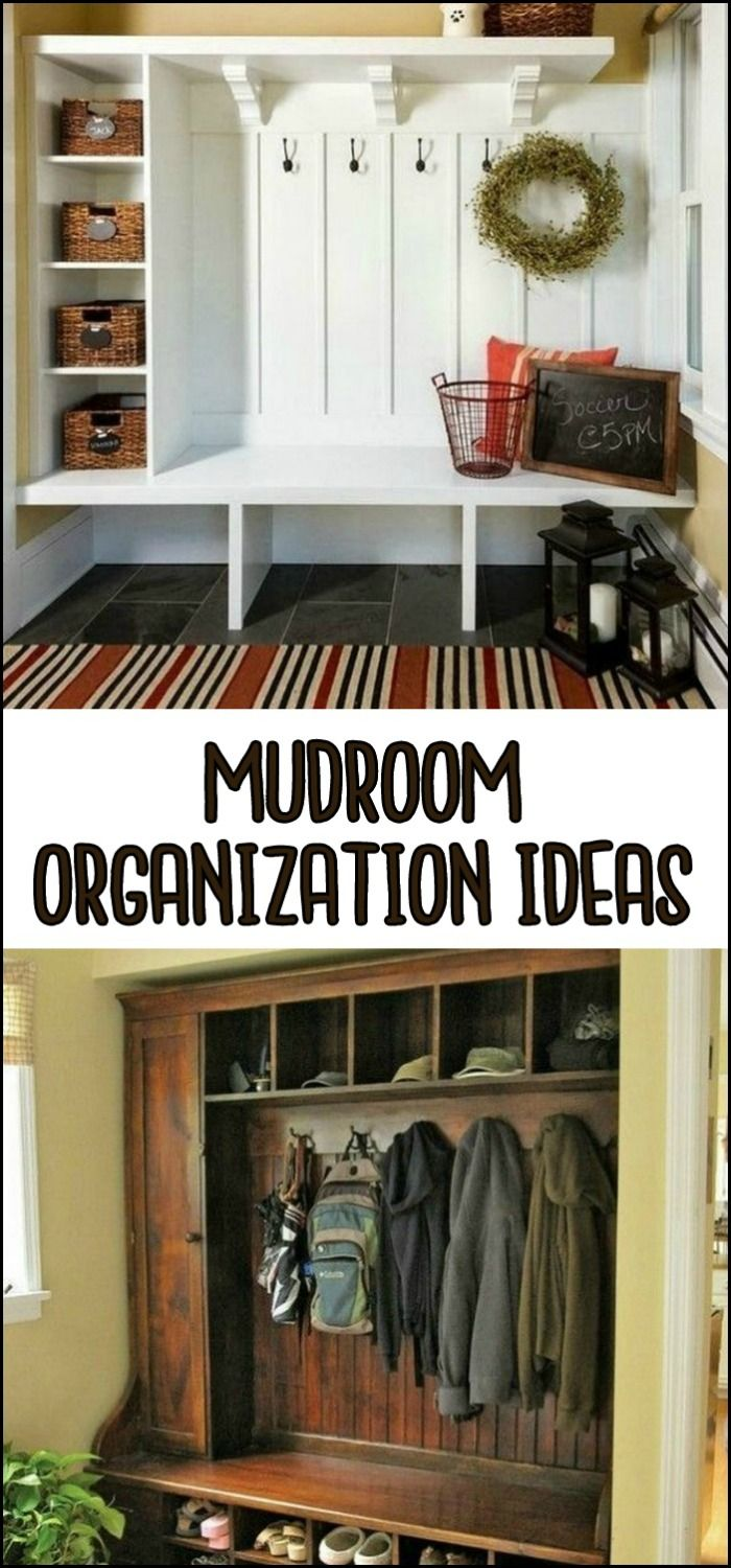 Organize your entry with these clever mudroom organization ideas!