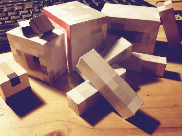 Minecraft dog body completed parts