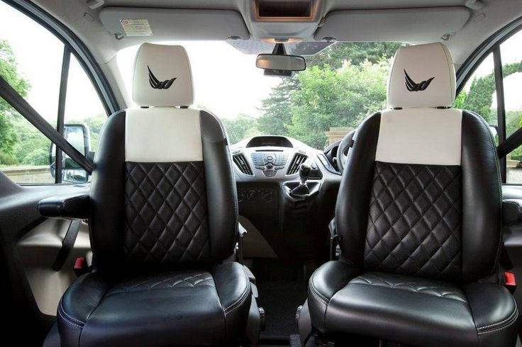 Quilted leather adorns the seats of the new Wellhouse Ford Terrier Bianco