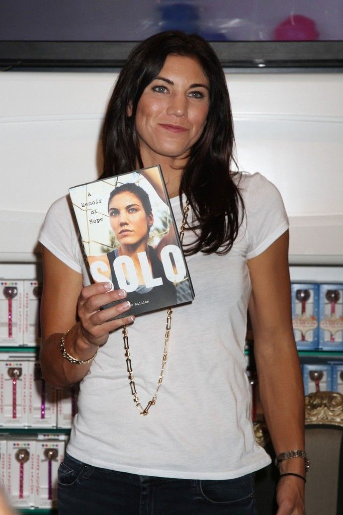 Hope Solo Photo - Hope Solo Poses with Her Memoir