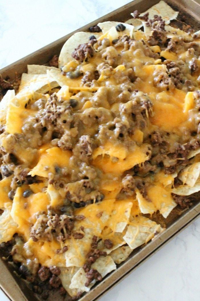 I am loving these delicious Sheet Pan Nachos Recipe with Homemade Taco Seasoning
