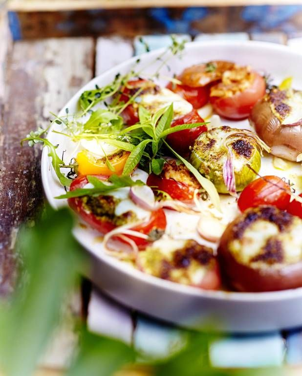Légumes farcis mozzarella parmesan - Elle à Table