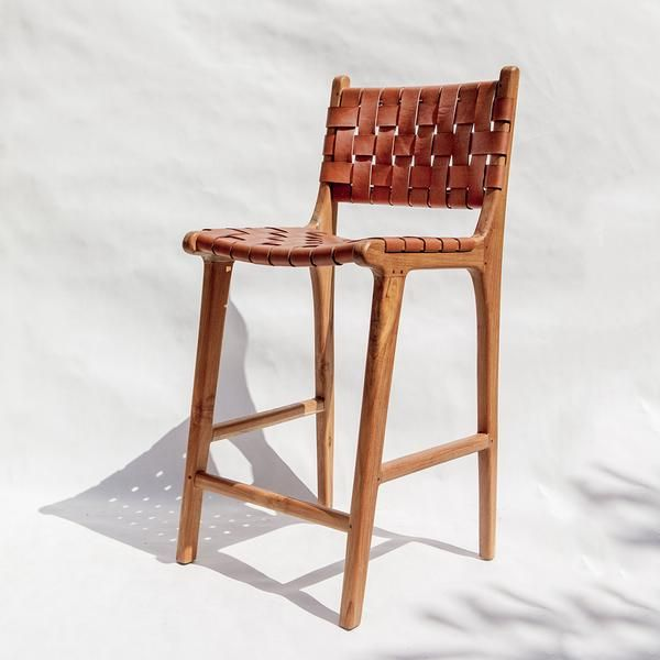 Stool 2 In Whiskey Leather Counter Stools Leather Stool