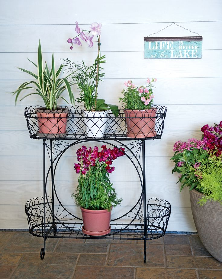 Wirework Plant Stand Indoors This Charming Tiered Plant