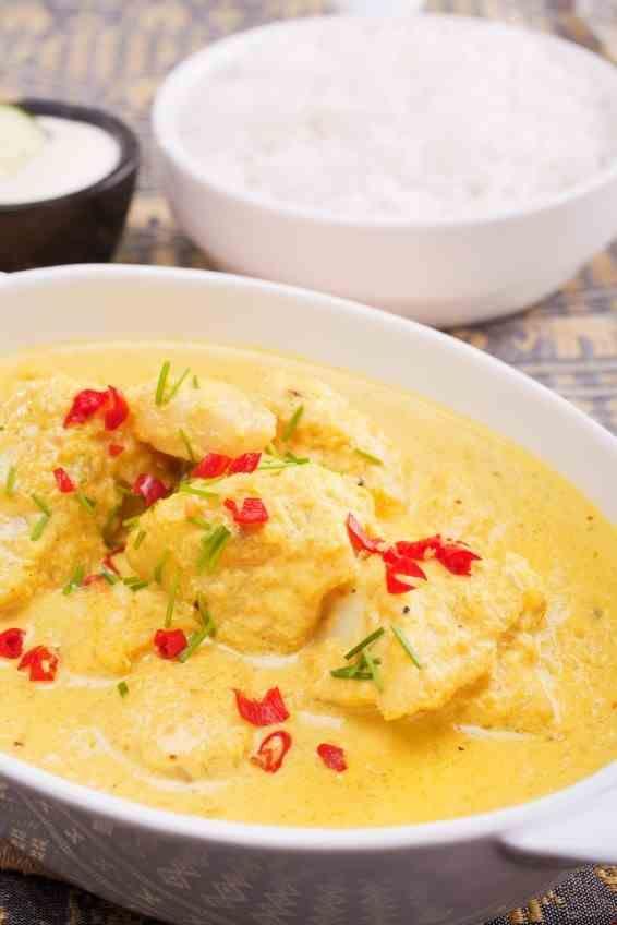 Poisson curry et lait de coco