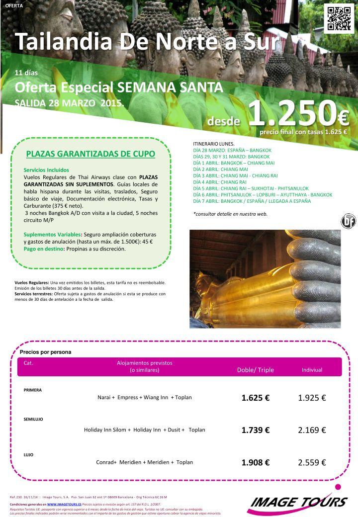 Tailandia: Del Norte al Sur con precios para SEMANA SANTA 2015 - precios rebajados ultimo minuto - http://zocotours.com/tailandia-del-norte-al-sur-con-precios-para-semana-santa-2015-precios-rebajados-ultimo-minuto-3/