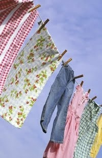 Clotheslines dolly pegs in action