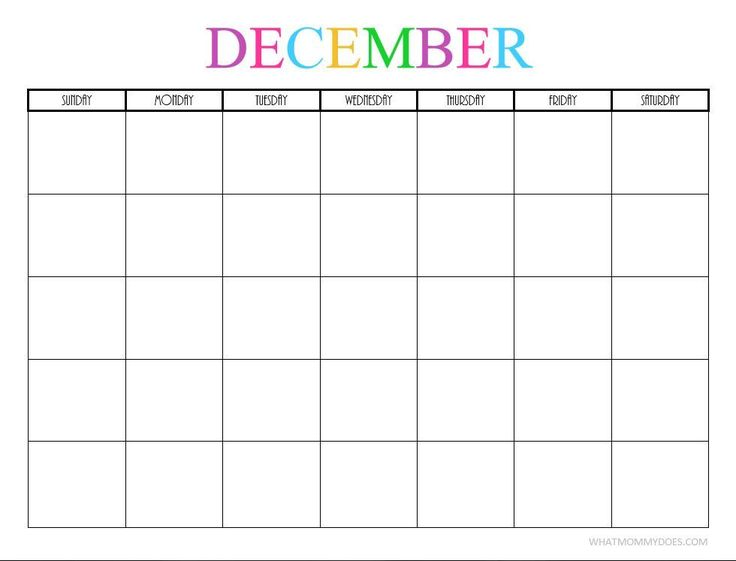 Blank Kitchen Calendar : Free printable blank monthly calendars