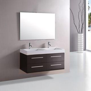 kokols 48 inch double sink bathroom combo set vanity