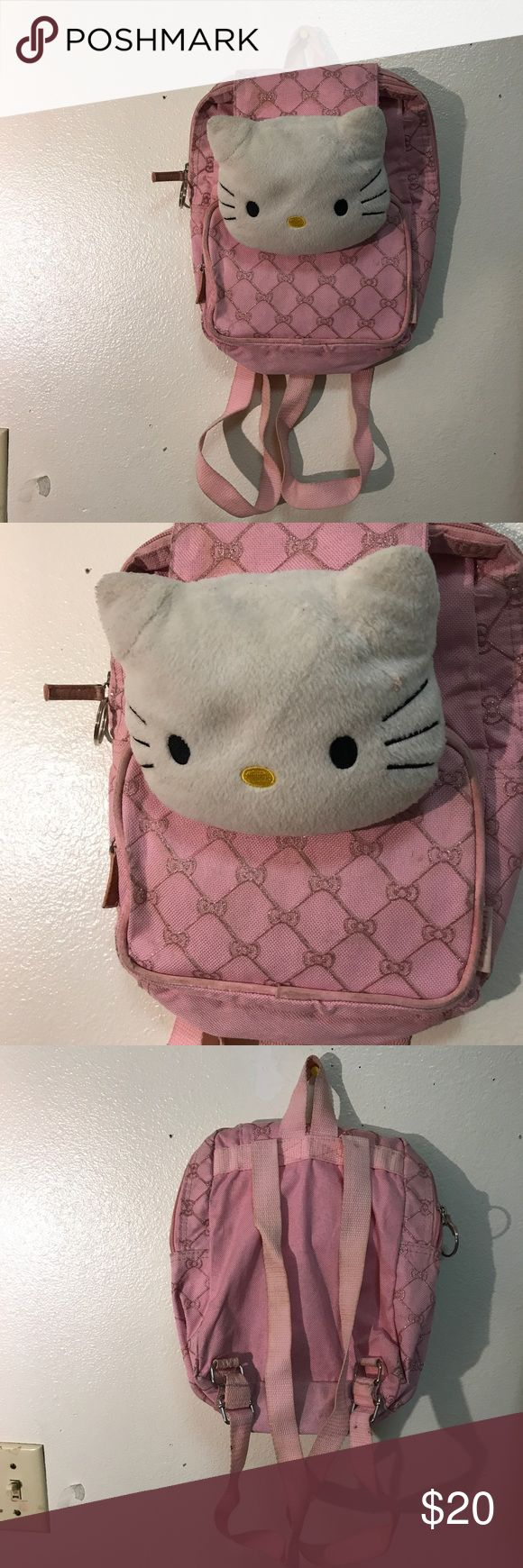 Hello Kitty Backpack worn out Bags Backpacks