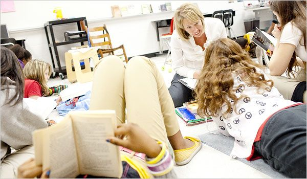 """A very interesting article about providing students with choices for classroom novel reading. Out with the """"whole class"""" approach, in with the """"individualized"""" approach."""