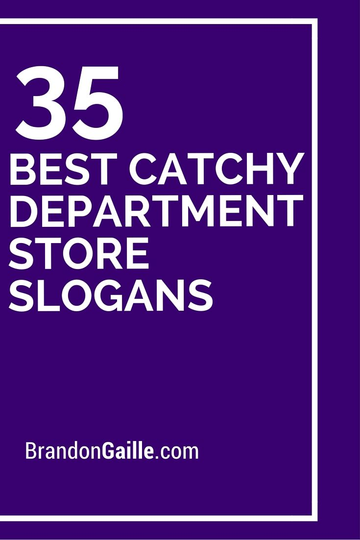 35 best catchy department store slogans