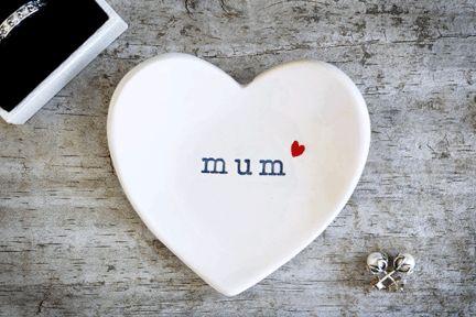 Mum Heart Ring Dish – The Little White Box