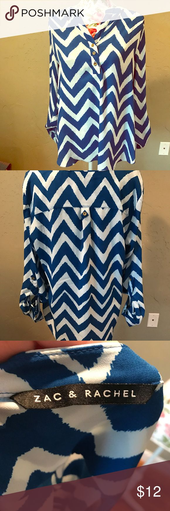 Chevron blouse Very cute and flowy sleeves button up Zac & Rachel Tops Blouses