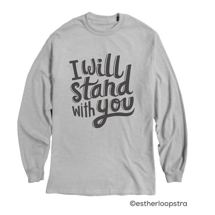 Only 3 more days to order these t's! We need 2 more sales in order for them to print. All the proceeds go to Refugee Women's Alliance (ReWA) in Seattle. Lots of tshirt and sweatshirt styles available. Link is in my bio.  . . . http://ift.tt/2hqXsL8 #ally #solidarity #syrianrefugeecrisis #syrianrefugees #iwillstandwithyou #tshirt #tshirtdesign #stoptrump #handlettering #lettering #type #typography #graphicdesign #illustration #illustratedtype #illustrator #calledtobecreative #handdrawn…