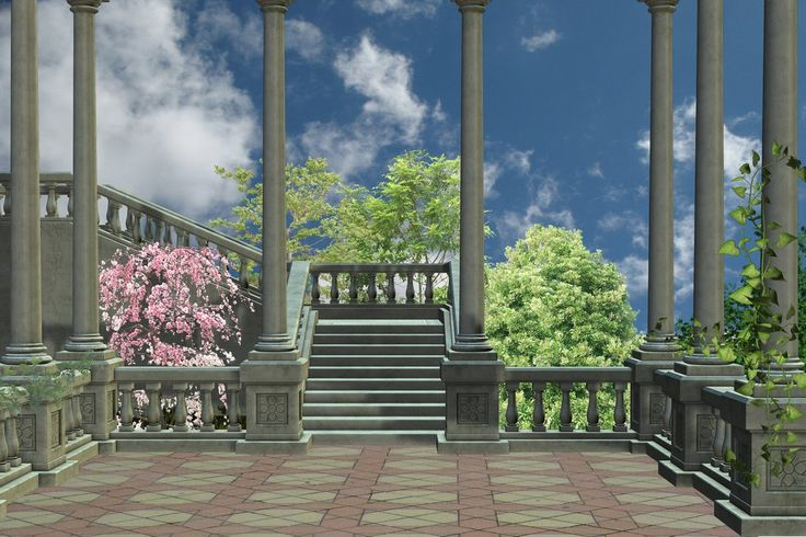 Premade Background Spring Stair by Nolamom3507 on DeviantArt