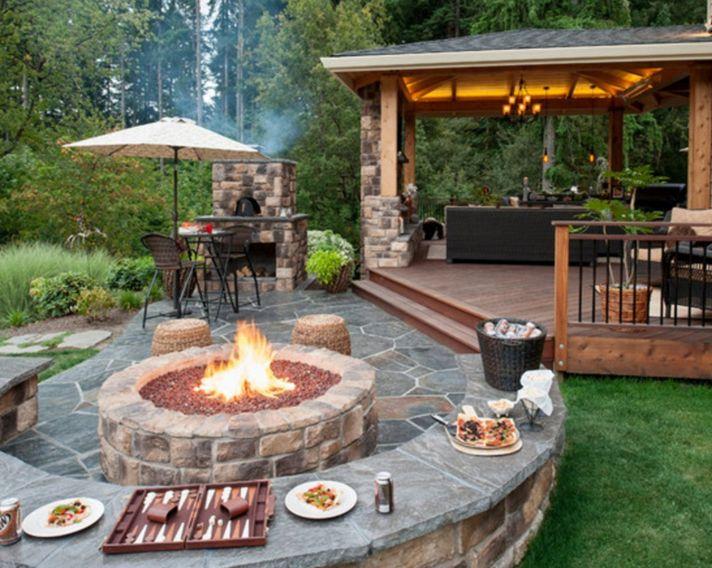 177 best dream patios images on pinterest | landscaping, terraces ... - Concrete Patio Designs With Fire Pit
