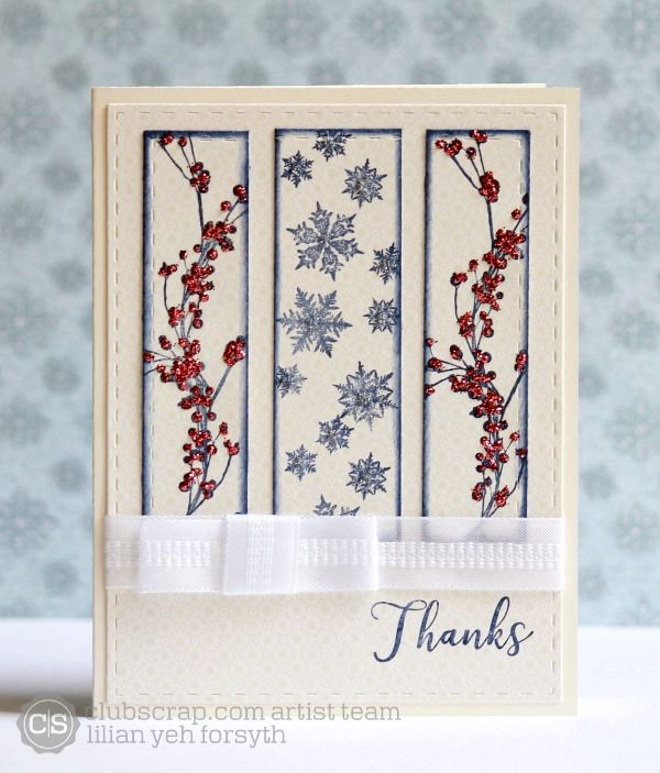 The Leaf Studio | Shades of Winter card #clubscrap