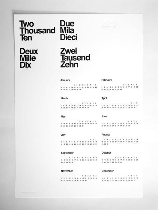 Two Thousand Ten calendar
