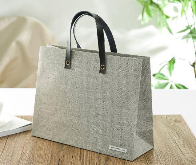 luxury gift bag, fabric carrier bag, special paper bag, design shopping bag