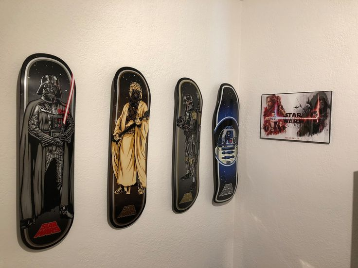 Great Skateboard Deck Display | Floating Mount Good Ideas