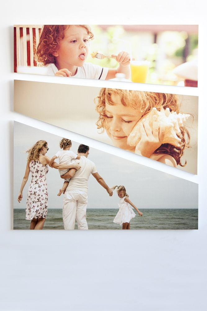 Stampa le tue foto in HD su trittico modello Stripe. High definition personalized printing on Stripe panels.