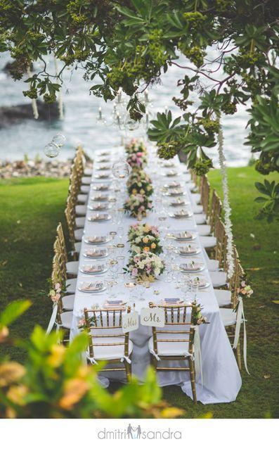 Heather and Victor :: Kukahiko Estate Maui Wedding - luxurious outdoor wedding table - Bliss Wedding Design
