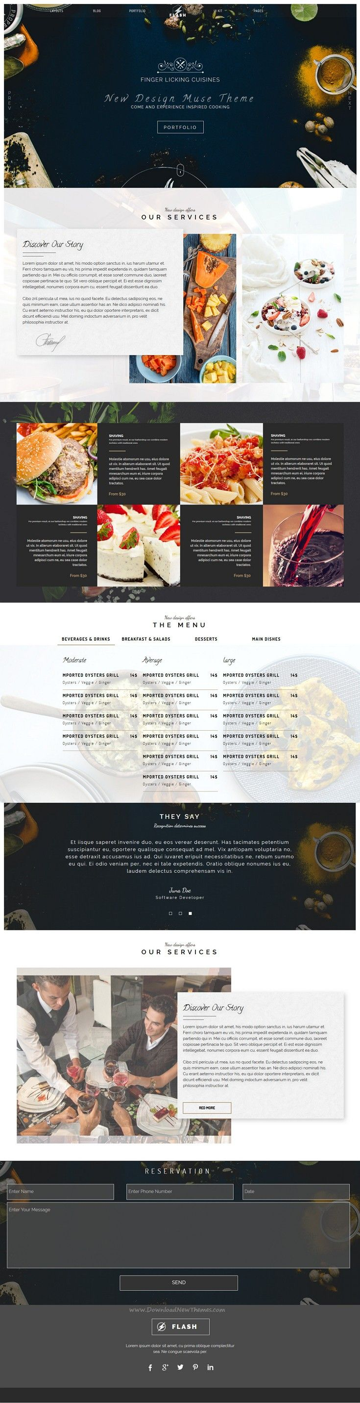 27 besten Web design templates ADOBE MUSE Bilder auf Pinterest ...