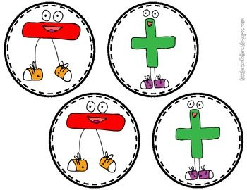 Addition and Subtraction Sticks: Use when asking whether a word problem is either addition or subtraction.