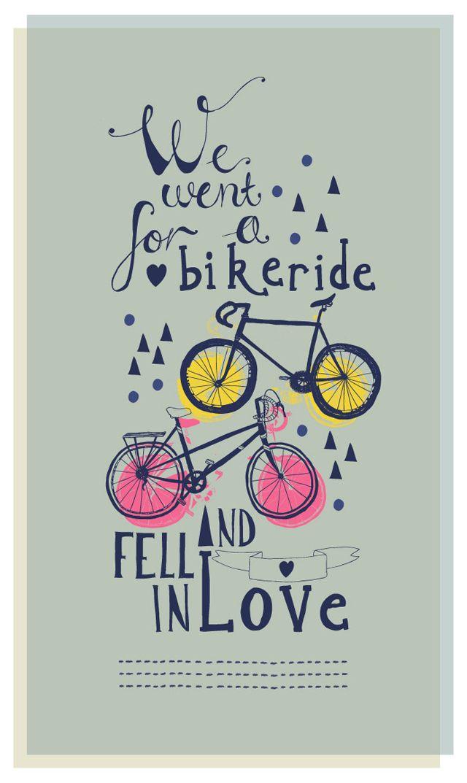 Print We went for a Bikeride by @Rosie HW HW Harbottle