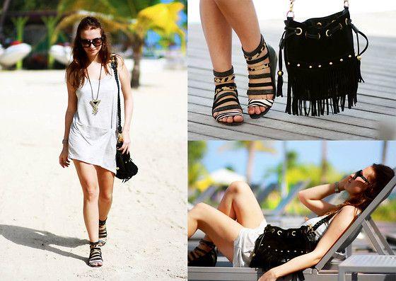 Nasty Gal Bag, Steve Madden Shoes, H Dress