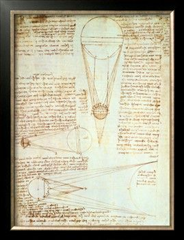 Studies of the Illumination of the Moon, Fol. 1R from Codex Leicester, 1508-1512 Giclee Print by Leonardo da Vinci at Art.com