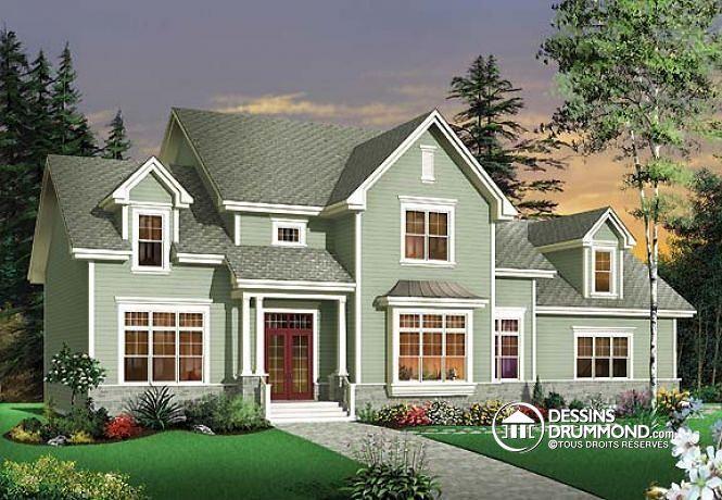 W3605 luxueuse maison de 4 chambres bureau plafond 11 - Plan de maison luxueuse ...