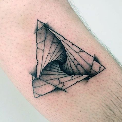 90 Triangle Tattoo Designs For Men – Manly Ink Ideas