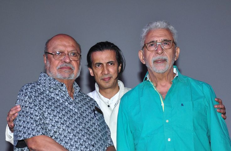 Shyam Benegal, Neville Tuli and Naseruddin Shah  at the Shyam Benegal Retrospective at Osianama at Liberty