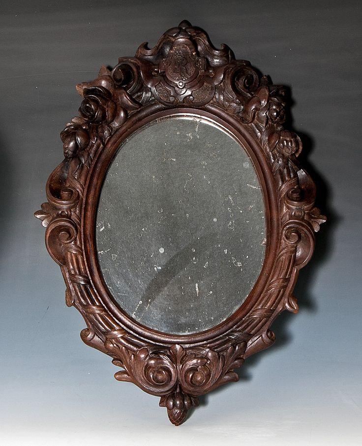 Antique Victorian Era Hand Carved Wood Black Forest Frame