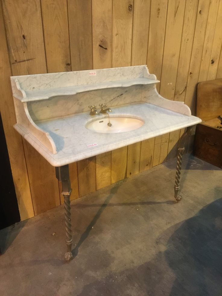 Large Victorian marble vanity unit