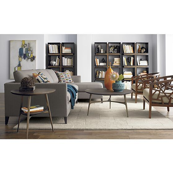 with hutch round coffee tables sectional sofas and crate and barrel