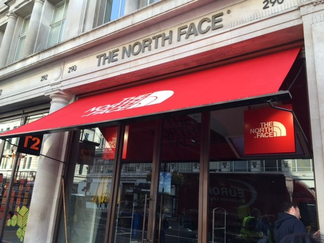 Another North Face Shop With A Victorian Awning In London By Deans Blinds Awnings