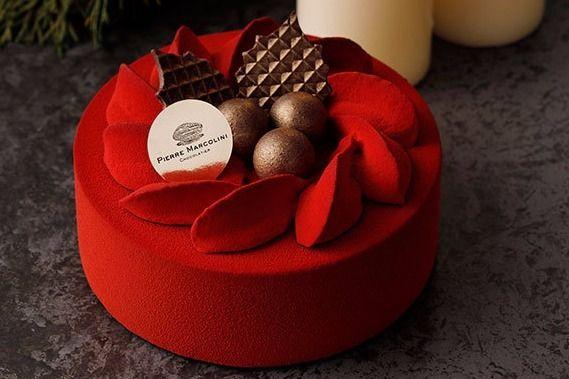 ピエール マルコリーニのクリスマス- 赤くほろ苦い大人のチョコレートケーキ