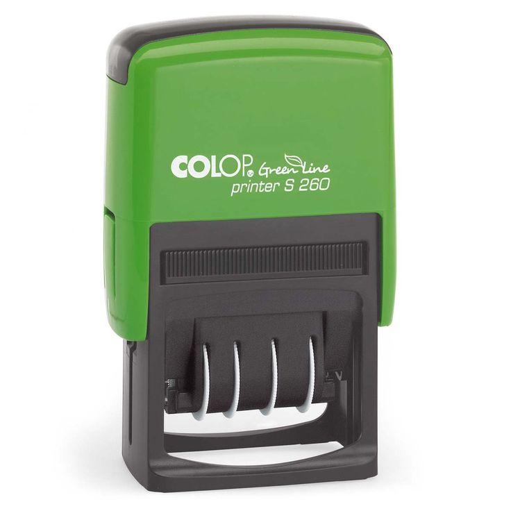 Colop Printer S 260. Duurzame stempel met afdrukformaat 45x24mm en de doordraaibare datum in het midden. Bestel deze stempel online bij stempelfabriek.nl