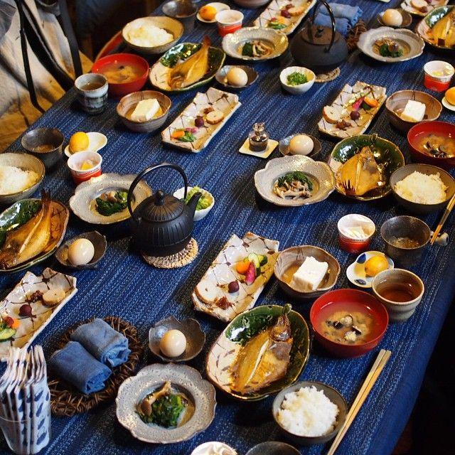 最後の朝食。 #他郷阿部家 #群言堂 #石見銀山 #takyoabeke #iwamiginzan #breakfast