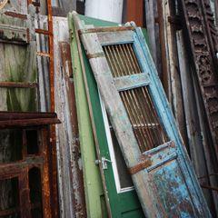 Old doors waiting to be repurposed or reused.
